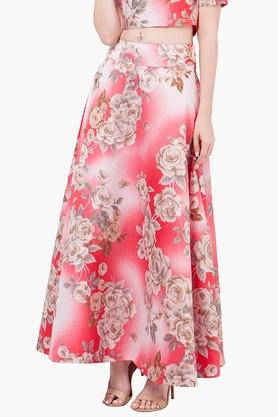 INDYA Womens Printed Maxi Skirt - 201845622