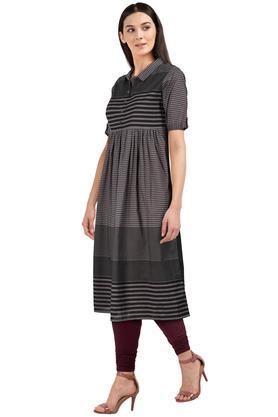 Womens Striped Casual Kurta