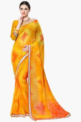 Women Faux Georgette Geometrical Printed Saree - 202446955