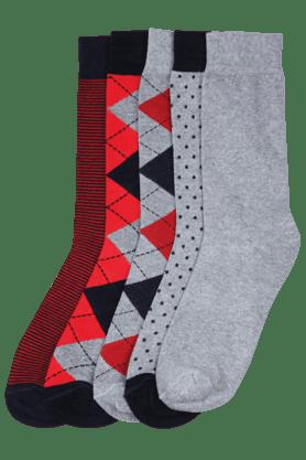 STOPMen Printed Socks (Set Of 5) - 8126907