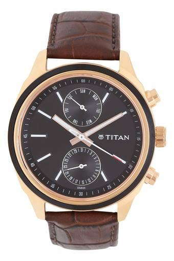 Mens Multi-Function Leather Watch - 1733KL03