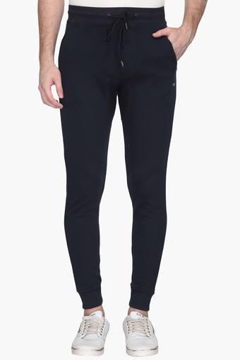 Mens Slim Fit 3 Pocket Solid Track Pants (Joggers Fit)