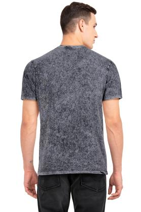 Mens Round Neck Textured T-Shirt