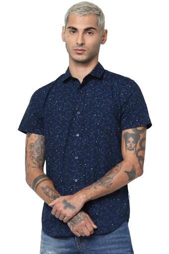 JACK AND JONES -  Blue Casual Shirts - Main