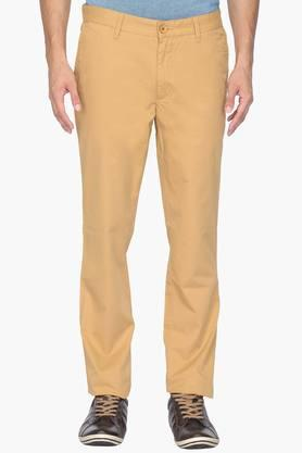 WILSTY Mens Slim Fit 5 Pocket Solid Chinos  ...