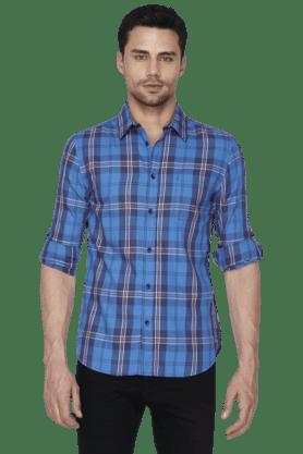 Mens Full Sleeves Slim Fit Casual Check Shirt