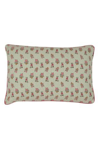 Rectangular Floral Printed Pillow Cover