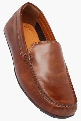 VENTURINI Mens Leather Slipon Loafers