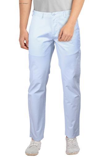 STOP -  Sky BlueFormal Trousers - Main