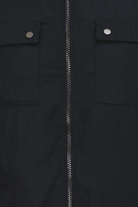 Mens Mao Collar Solid Jacket