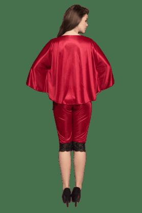 2 Pcs Satin Nightwear Set