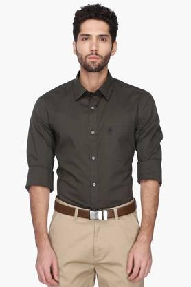 French Connection Formal Shirts (Men's) - Mens Solid Regular Collar Shirt