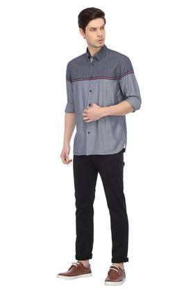 TOMMY HILFIGER - BlueCasual Shirts - 3