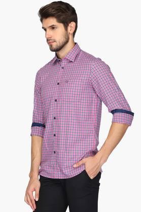Mens Slim Fit Check Anti UV Shirt