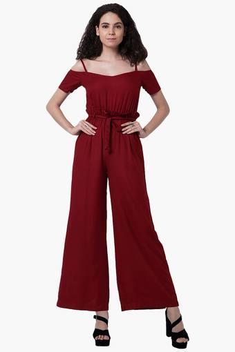 1941569bc63d Buy FABALLEY Womens Cold Shoulder Jumpsuit