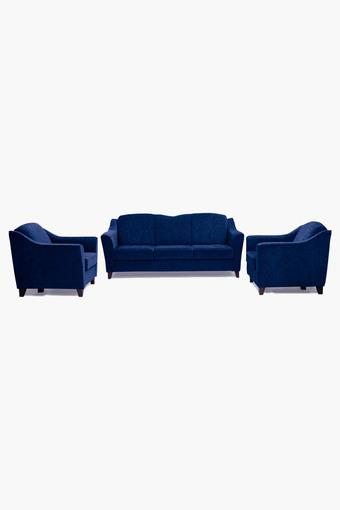 Midnight Blue Fabric Sofa (3-1-1 Sofa Set )