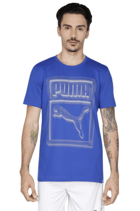 PUMA Mens Short Sleeve Round Neck Solid T-Shirt