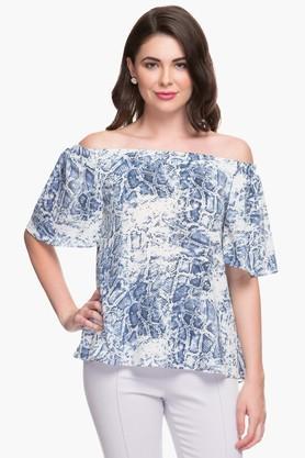 Womens Off-shoulder Printed Top