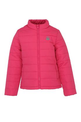 Girls Zip Through Neck Quilted Jacket