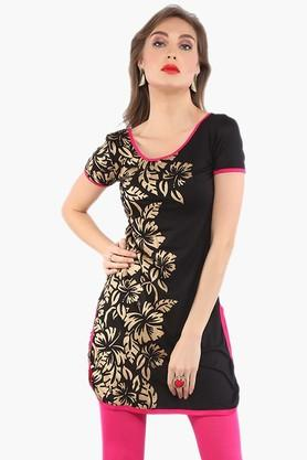 IRA SOLEILWomens Slim Fit Printed Kurta (Buy Any Ira Soleil Product And Get A Necklace Free) - 201787544