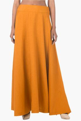 Womens Solid Long Skirt - 202498094