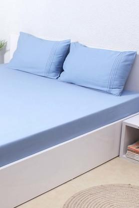 HOUSE THIS Dusk Blue 100% Cotton Bed Sheet