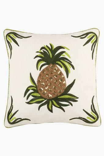 Poly Cotton Embroidered Cushion Cover