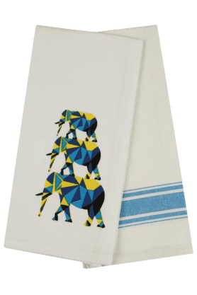 IVY Floral Motif Kitchen Towel (Set Of 2)
