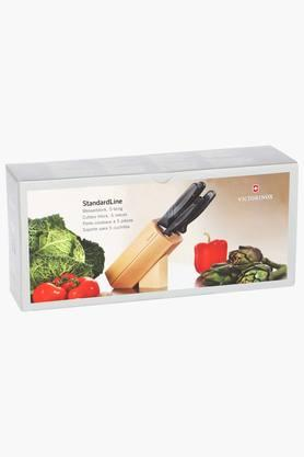 Kitchen Hexagonal Cutlery Block with Knives Set of 5
