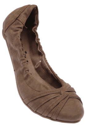 CATWALK Womens Brown Elastic Ballerina Shoe