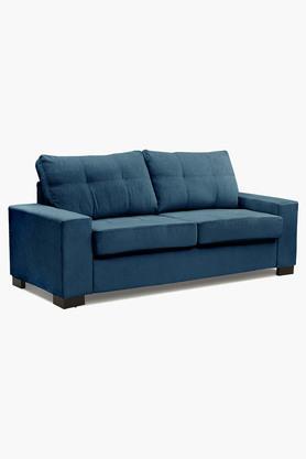 Zafree Blue Fabric Sofa (3 - Seater)