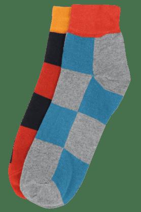 VETTORIO FRATINIMens Check Socks Pack Of 2