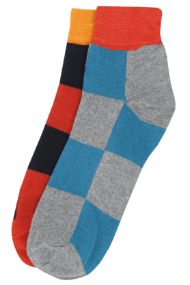 VETTORIO FRATINI Mens Check Socks Pack Of 2