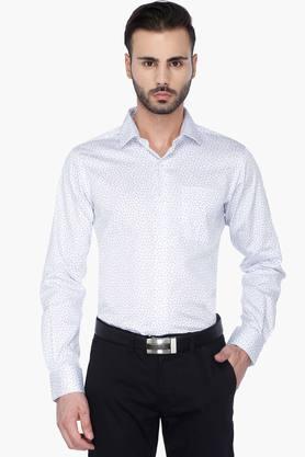 Wilsty Formal Shirts (Men's) - Mens Full Sleeves Formal Printed Shirt