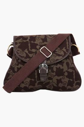 PICK POCKETWomens Canvas Snap & Zipper Closure Sling Bag