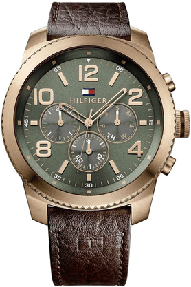 TOMMY HILFIGER Mens Chronograph Watch With Leather Strap - TH1791109J