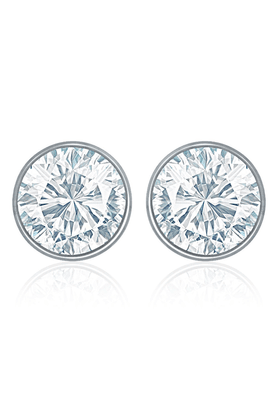 MAHIRhodium Plated White Bolt Earrings Made With Swarovski Elements For Women ER1104083RWhi