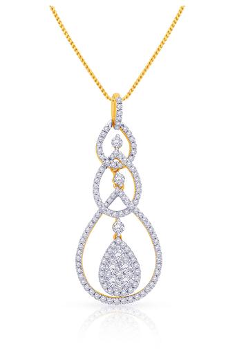 59ab974ad Buy MALABAR GOLD AND DIAMONDS Womens Mine Diamond Pendant | Shoppers Stop