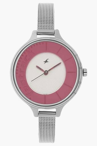 Womens Silver Dial Analogue Watch