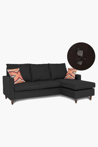 Oak Brown Water Repellent Fabric Sofa (2 Seater - 1 Lounger)