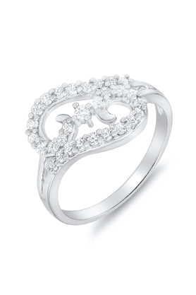 MAHIMahi Rhodium Plated Surprise Delight Ring With CZ Stones For Women FR1100048R