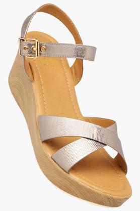 TRESMODE Womens Casual Ankle Buckle Closure Wedge Sandal