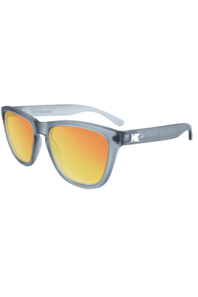 KNOCKAROUND Premium Unisex Sunglassess Frosted Grey/POLARIZED Red Sunset-PMRS3003 (Use Code FB20 To Get 20% Off On Purchase Of Rs.1800)