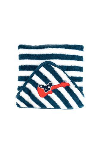 Kids Striped Hooded Towel Wrap