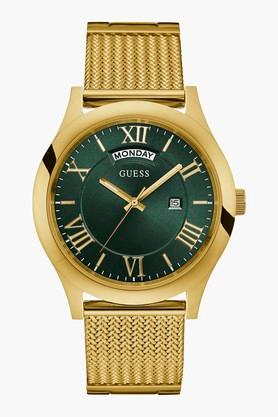 GUESS Gold Tone Stainless Steel & Mesh Metropolitan Watch W0923G2