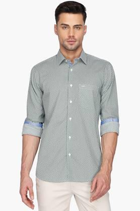 Color Plus Formal Shirts (Men's) - Mens Printed Regular Collar Shirt
