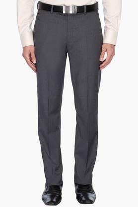 LOUIS PHILIPPE Mens 4 Pocket Slub Formal Trousers - 201758406