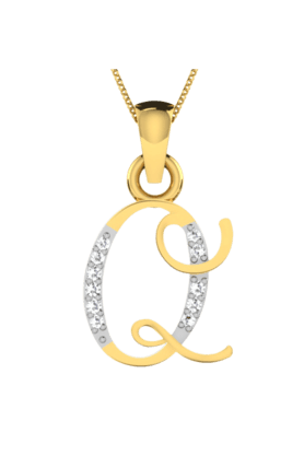 SPARKLESHis & Her Collection 18 Kt Pendant In Gold & Real Diamond HHPXP8766