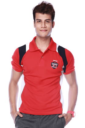 BLACK PANTHERMens Short Sleeves Regular Fit Solid Polo T-Shirt