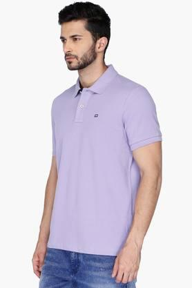 Mens Regular Fit Solid Polo Anti UV T-Shirt